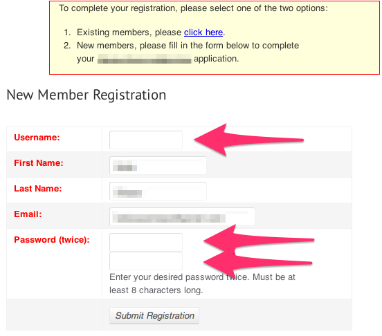 Complete your registration by filling out this form